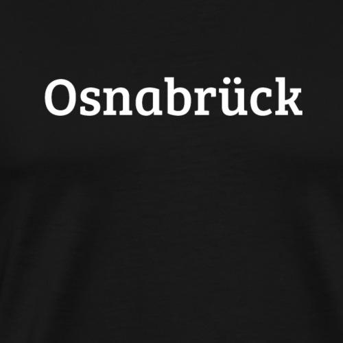Osnabrueck (Bree Serif/weiß) - Männer Premium T-Shirt