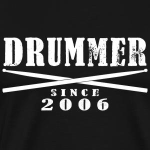 Schlagzeuger T-Shirt - Drummer Since 2006 - Männer Premium T-Shirt