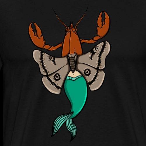 Hummer-møll-havfrue - Premium T-skjorte for menn