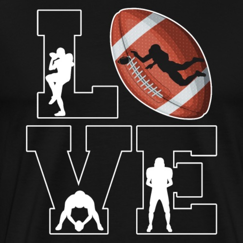 Love Football - Männer Premium T-Shirt