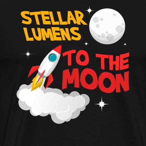 Stellar Lumens XLM To The Moon Logo - Männer Premium T-Shirt