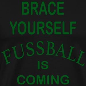Zet je schrap Football is Coming - Green - Mannen Premium T-shirt
