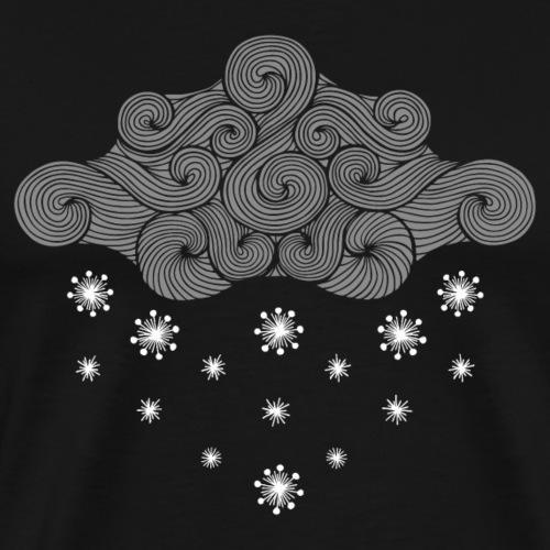 nuage gris et flocons