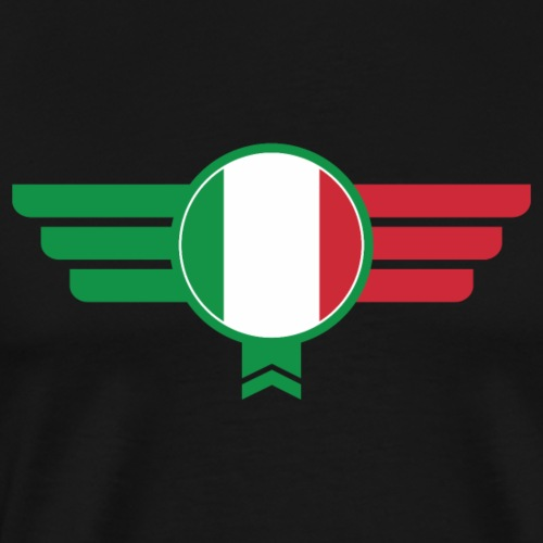 Italien Italia Emblem Flagge - Männer Premium T-Shirt