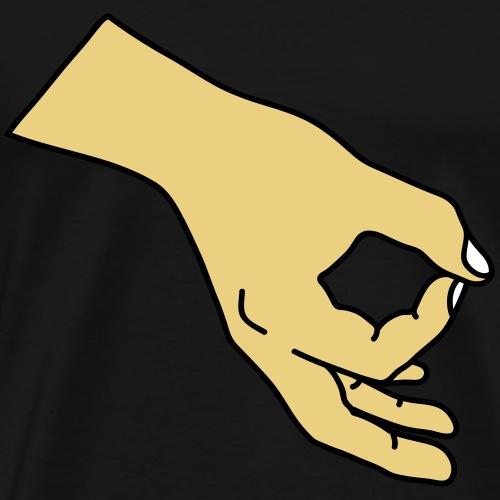 Reingeguckt! (mit Farbe) - Männer Premium T-Shirt