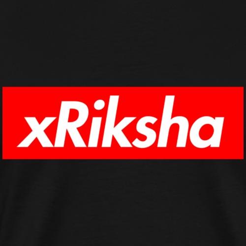 xRiksha - Box logo - Miesten premium t-paita