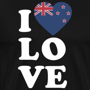 I love New Zealand - Men's Premium T-Shirt