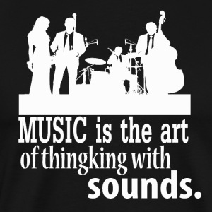 Musik - The Art of Thinking - Premium-T-shirt herr