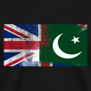 British Pakistani Half Pakistan Half UK Flag - Men's Premium T-Shirt