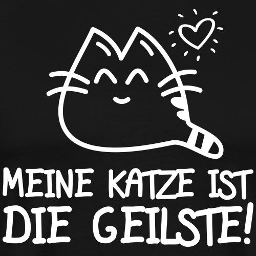 DIE GEILSTE KATZE - Katzen Sprüche Geschenk Shirts - Männer Premium T-Shirt