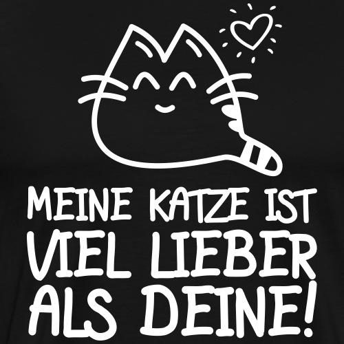 LIEBER ALS DEINE - Katzen Sprüche Geschenk Shirts - Männer Premium T-Shirt