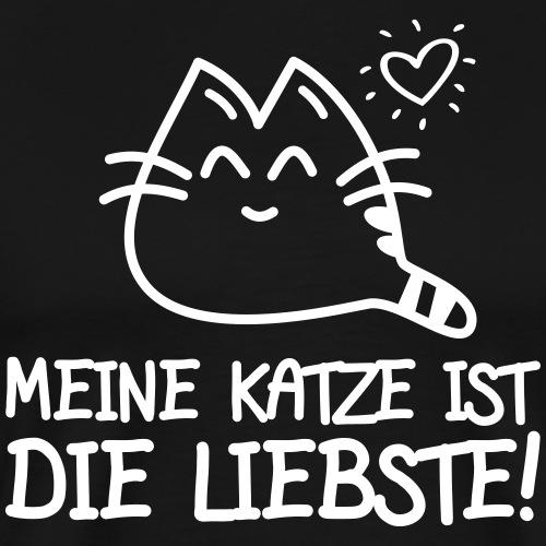 DIE LIEBSTE KATZE - Katzen Sprüche Geschenk Shirts - Männer Premium T-Shirt