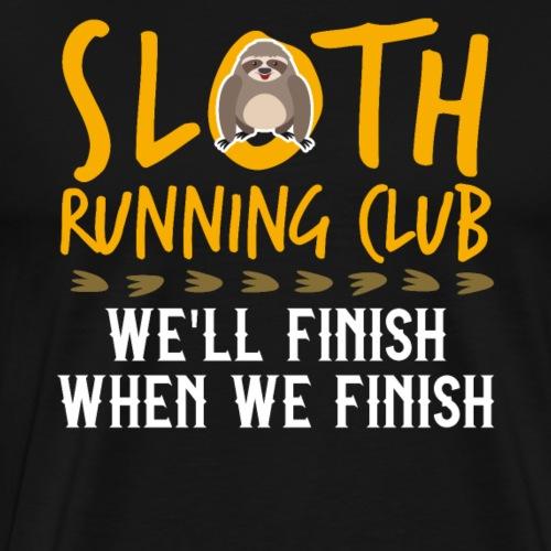 SLOTH RUNNING CLUB - Männer Premium T-Shirt
