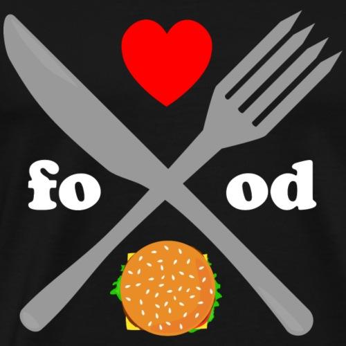 food love Essen Besteck Geschenk Geschenkidee Herz - Männer Premium T-Shirt