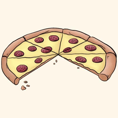 Pizza für Eltern-Baby-Partnerlook mit 2 Kindern - Männer Premium T-Shirt