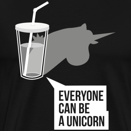 Everyone can be a Unicorn - Einhort Shirt - Männer Premium T-Shirt