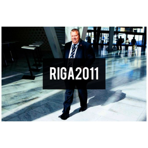 Riga 2011 - Premium T-skjorte for menn