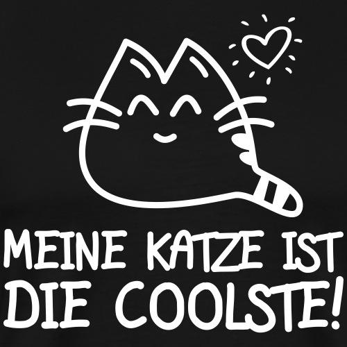DIE COOLSTE KATZE - Katzen Sprüche Geschenk Shirts - Männer Premium T-Shirt