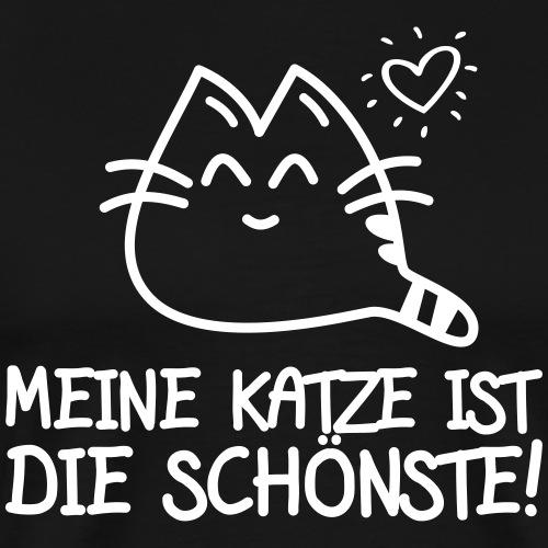 DIE SCHÖNSTE KATZE- Katzen Sprüche Geschenk Shirts - Männer Premium T-Shirt