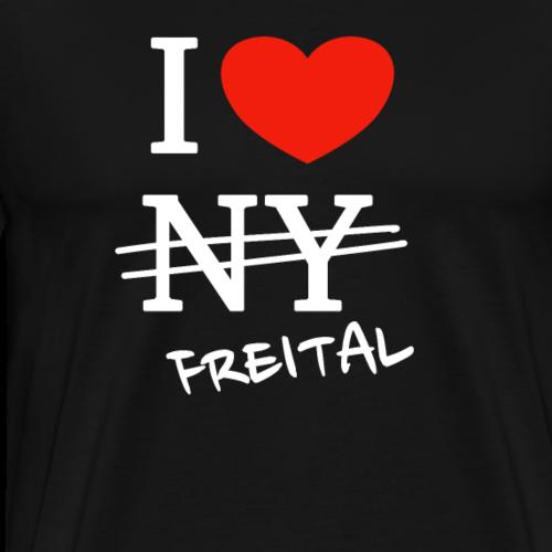 I love Freital - Männer Premium T-Shirt