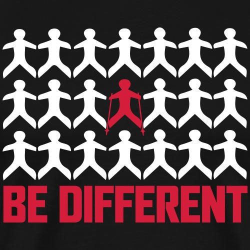 Nordic Walking - Be Different - Miesten premium t-paita