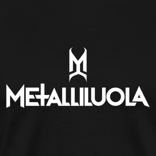 Metalliluola valkoinen logo - Miesten premium t-paita