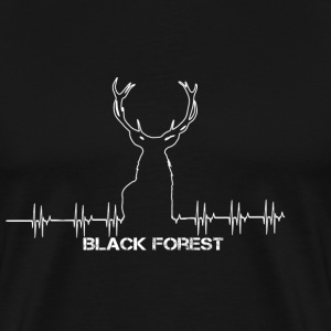 Black Forest Heartbeat vit - Premium-T-shirt herr