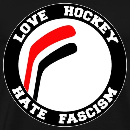 Love Hockey Hate Fasciscm - Männer Premium T-Shirt