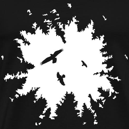 Wald Himmel Vögel - Männer Premium T-Shirt