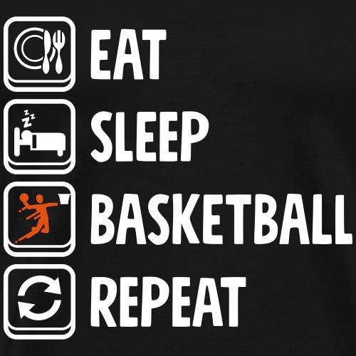 Eat Sleep Basketball Repeat - Männer Premium T-Shirt