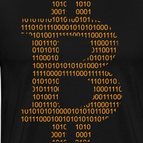 Bitcoin Symbol Orange - Männer Premium T-Shirt