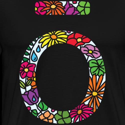 doterra colourful floral logo in light blue - Men's Premium T-Shirt