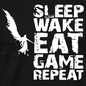 Sleep Wake Eet Game Repeat - Mannen Premium T-shirt
