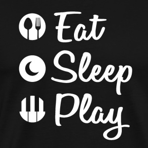 Eat Sleep Piano - Herre premium T-shirt