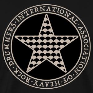 Schlagzeuger T-Shirt - Heavy Rock Drummer - Männer Premium T-Shirt