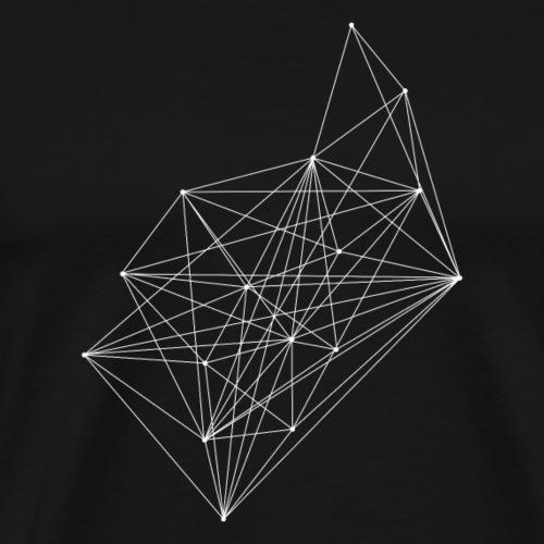 minimal design linien verbundene Punkte - Männer Premium T-Shirt