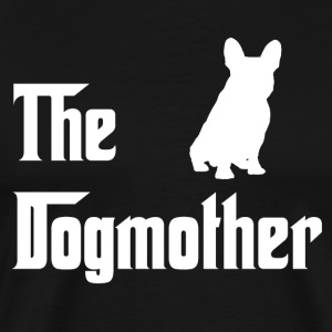 Dogmother_weiss - Herre premium T-shirt