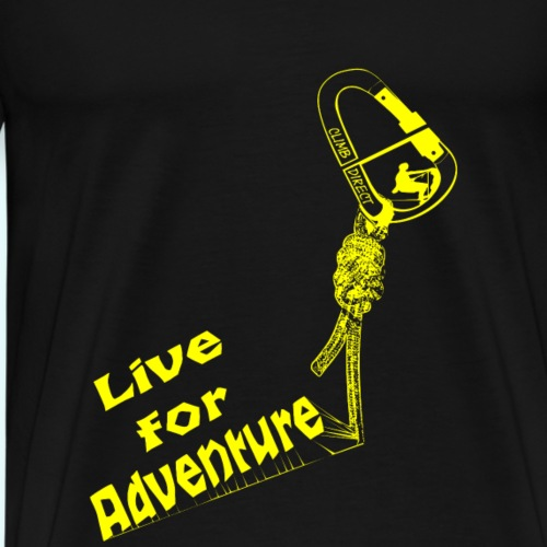 Live for adventure yellow - Men's Premium T-Shirt