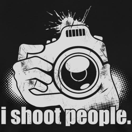 I Shoot People Funny photography camera shirt - Männer Premium T-Shirt