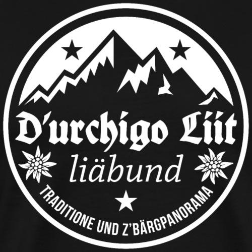 D'URCHIGO LIIT LIÄBUND TRADITIONE UND Z'BÄRGPANO - Männer Premium T-Shirt