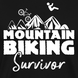 Mountainbiking Survivor - Herre premium T-shirt