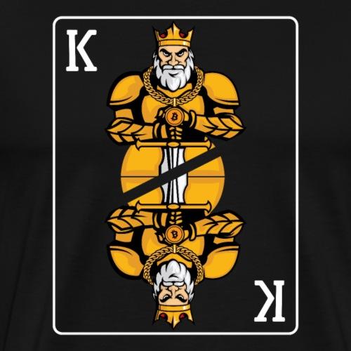Bitcoin (BTC) Cryptocurrency King - Männer Premium T-Shirt