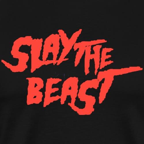 SLAY THE BEAST Red - Men's Premium T-Shirt
