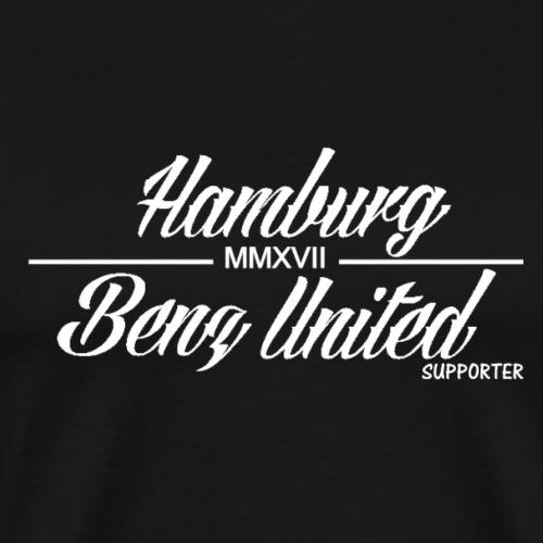HamburgBenzUnited Supporter Weiß - Männer Premium T-Shirt