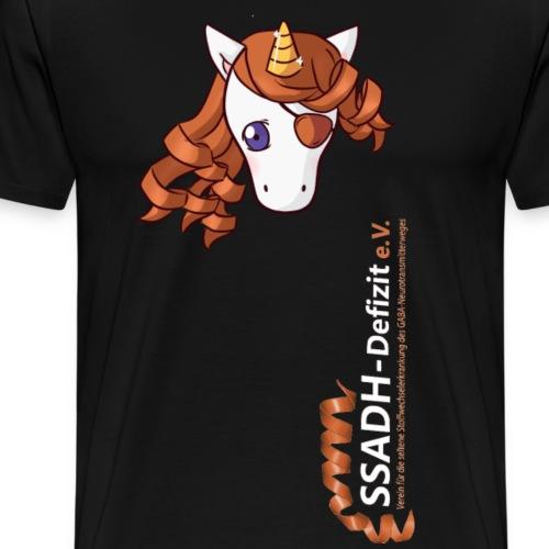 T Shirt schwarz SSADH-Defizit e.V. - Männer Premium T-Shirt