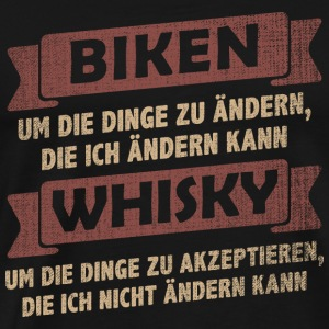 BTT> mountain bike + beber whisky - Camiseta premium hombre