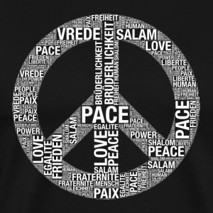 Fred, Pace, Paix, Salaam, Shalom, fred! - Premium T-skjorte for menn