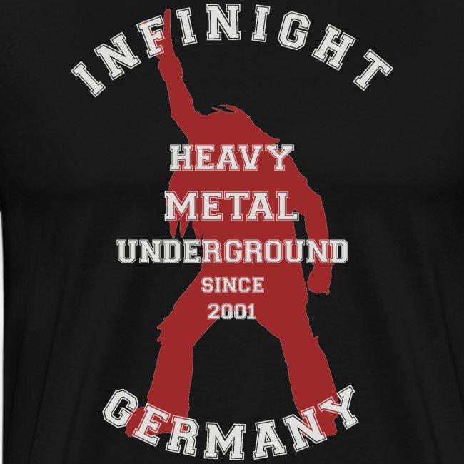 College headbanger dark red