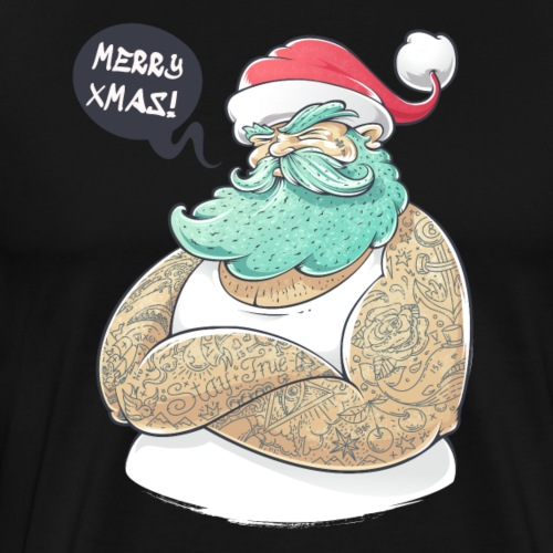 Babbo Natale Tatuato - Maglietta Premium da uomo