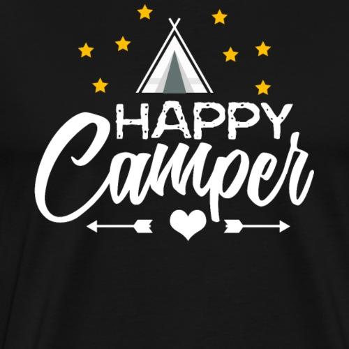 Glücklicher Camper - Männer Premium T-Shirt